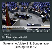 Screenshot Video Bundestagssitzung