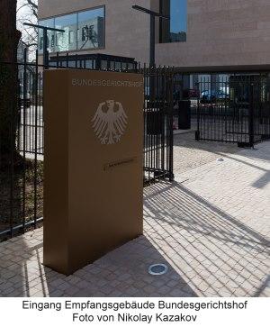 BGH-Urteil: Eingang Bundesgerichtshof Empfangsgebäude