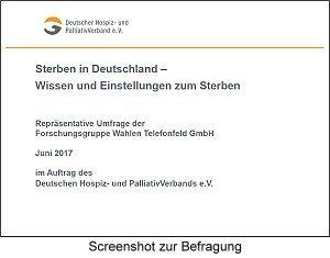 """DHPV-Bevölkerungsbefragung zu """"Sterben in Deutschland – Wissen und Einstellungen zum Sterben"""""""