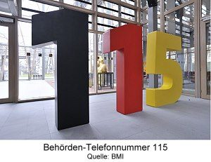 Behörden-Telefonnummer 115