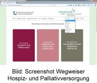 Bild: Screenshot Wegweiser Hospiz- und Palliativversorgung