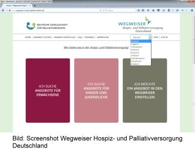 Bild: Screenshot Wegweiser Hospiz- und Palliativversorgung Deutschland
