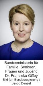 Bundesministerin für Familie, Senioren, Frauen und Jugend Dr. Franziska Giffey