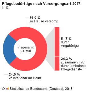 Bild Pflegebedürftige 2017 nach Versorgungsart