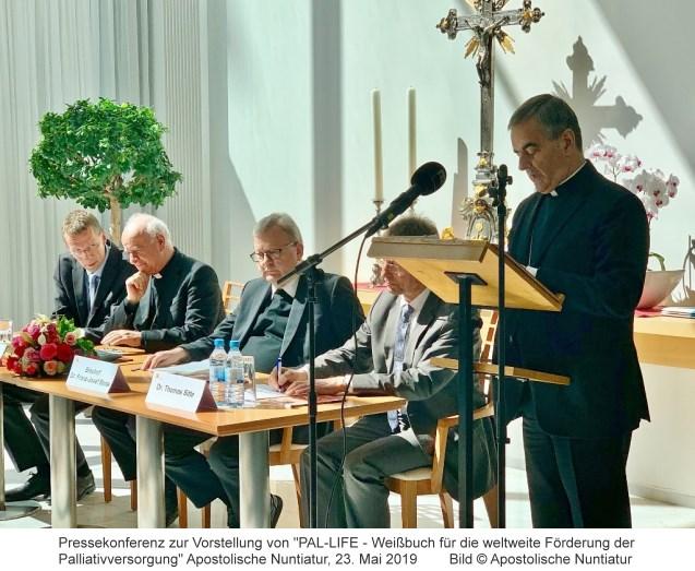 """Pressekonferenz zur Vorstellung von """"PAL-LIFE - Weißbuch für die weltweite Förderung der Palliativversorgung"""" 23.05.19"""