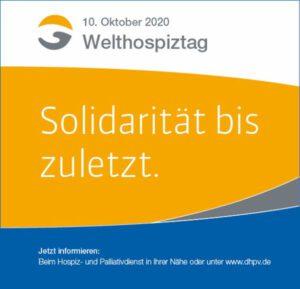 Welthopsiztag 2020 - Solidarität bis zuletzt